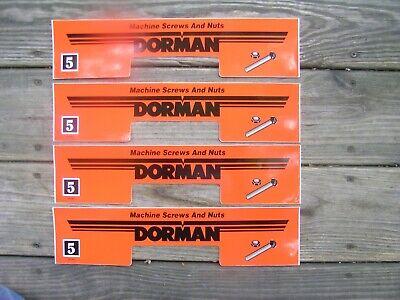 Dorman 4 Drawer Metal Parts Cabinet Peel Stick Front Labels Lot Of 4