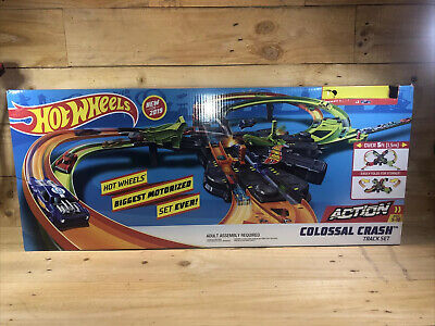 Hot Wheels Colossal Crash Track Set 2019 Over 5ft PREOWNED