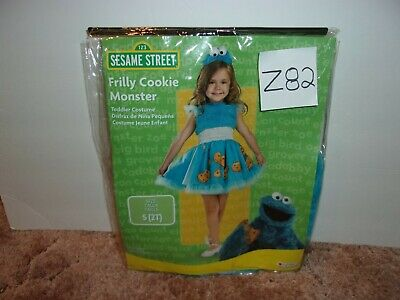 Frilly Cookie Monster Sesame Street 2T Child Halloween Fancy Dress Up Costume