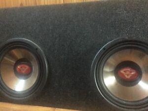 """Cerwin Vega 10"""" subs in truck box"""