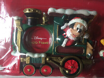 Disney Store Candy Cane Christmas 2000 Train Frame Set Mickey Mouse 4 Frames New