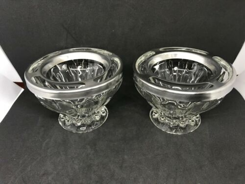 Vintage Jeannette Glass Supreme Shrimp/Seafood Cocktail Condiment Bowls-Set Of 2