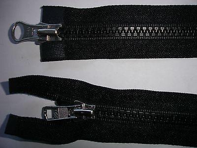 RV 382 Reißverschluß ykk schwarz 78cm, teilbar als 2-Wege-RV 1 Stück