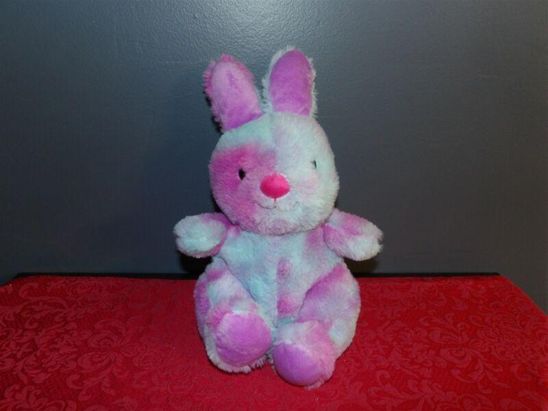 "HTF 12"" Animal Adventure 2019 Blue & Purple Tie Dyed BUNNY Rabbit (*81)"