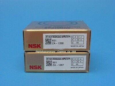 Nsk 20tac47bddgsuc10pn7bp4 Abec-7 Sealed Ball Screw Bearings. Matched Set Of 2