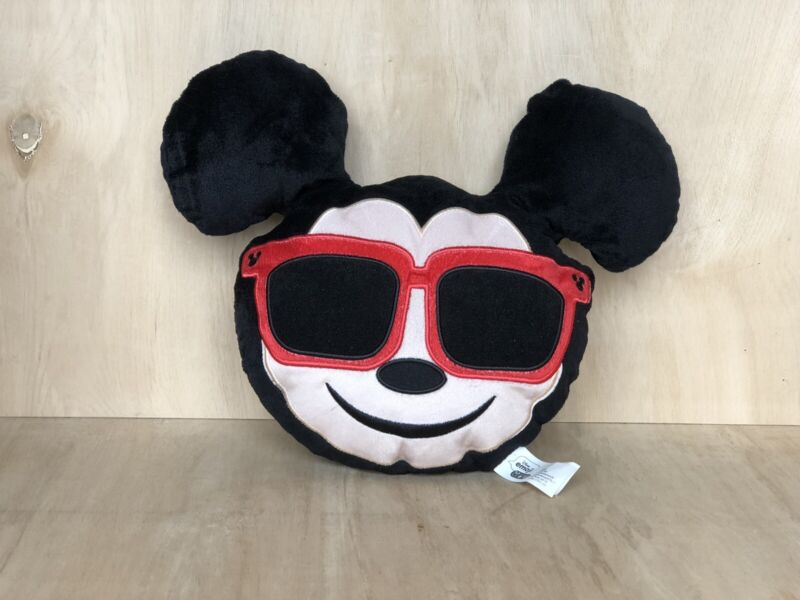 DISNEY EMOJI PILLOW MICKEY MOUSE FACE  WITH SUNGLASSES 13