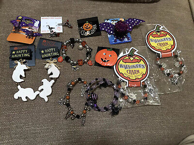 Halloween Party Items (Halloween Party Jewelry Lot Of 12 Items Vintage/Modern Pin's/ Earrings/)
