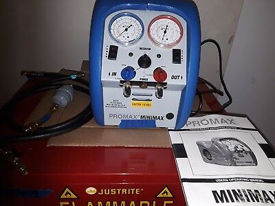 Promax Minimax Refrigerant Recovery System With 2 Hoses Filter Unit Manual
