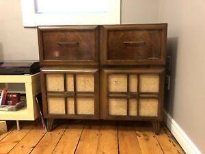 Midcentury modern sideboard cabinet record player