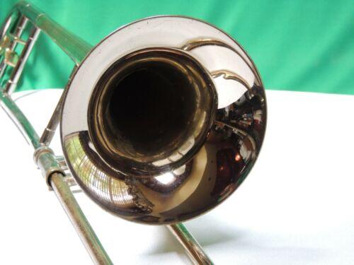Reynolds EMPEROR Silver Trombone VTG 69  Refurbished w Case & MP Serial # 251641