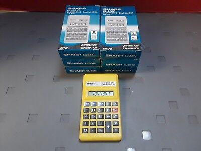 Sharp EL-231C Electronic Calculator ELSI MATE (Bundle of 7)