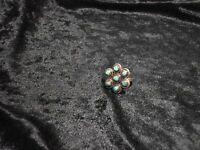 Anillo Tribu Zuni Plata Con Turquesas Snake Eye Diseño Flor Talla 5 -  - ebay.es