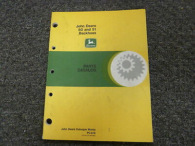John Deere Model 50 51 Backhoe Parts Catalog Manual Book Pc619