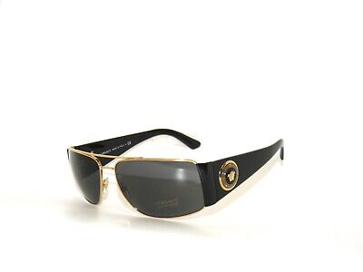 Versace 2163 100287 Gold Black grey  Sunglasses