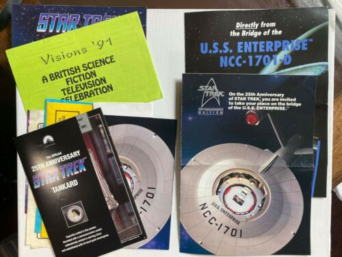 Star Trek Mixed Lot of Catalogs Letters & Other Items.