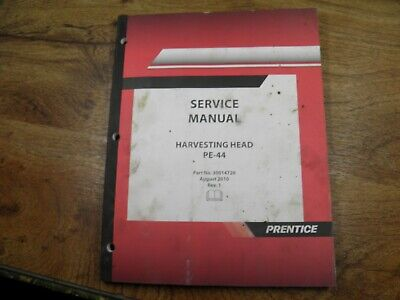 Prentice Pe-44 Harvesting Head Service Manual