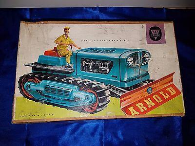 Arnold Raupe - Traktor Blechraupe mit Schaufel Nr. 7900 50er im Originalkarton