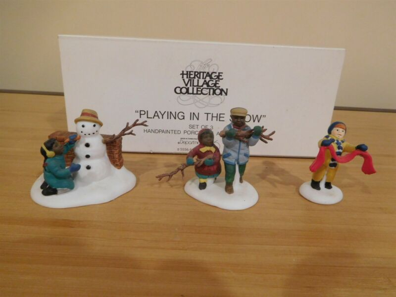 Dept 56 CIC Accessory - Playing In The Snow - Free Shipping