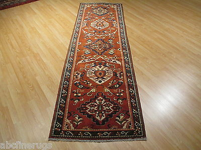 9 FEET RUNNER Kazak Geometric Vegetable Dye Handmade-knotted Rug Wool 581090