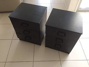 Pair Black bedside tables Fitzgibbon Brisbane North East Preview