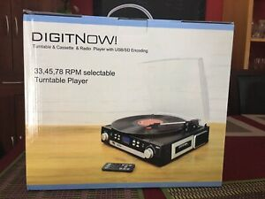 Digitnow record player cassette player radio and digital music