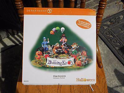 Bobbing For Apples Halloween (DEPT 56 HALLOWEEN VILLAGE Halloween Festival ANIMATED BOBBING FOR APPLES NIB)