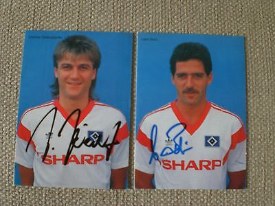 HSV Hamburger SV  1987/88 - 2 Autogrammkarten