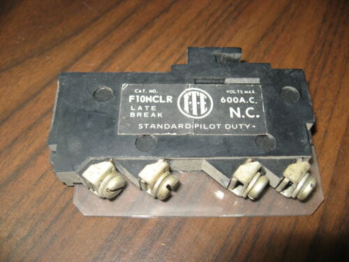 ITE F10NCLR Late Break Auxiliary Contact (600 Volt)