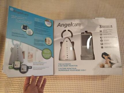 Angelcare video movement sound monitor 5m old, 3y warranty