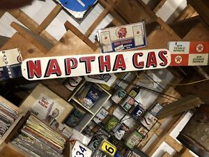 Naptha gas sign from red Indian gas station