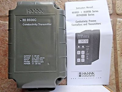 New Hanna Instruments Hi 8936c Conductivity Transmitter To Use W Four Ring Probe