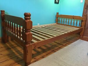 All Wood Twin Bed