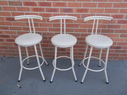 Retro Bar Stools Kitchen Breakfast Bench Chairs