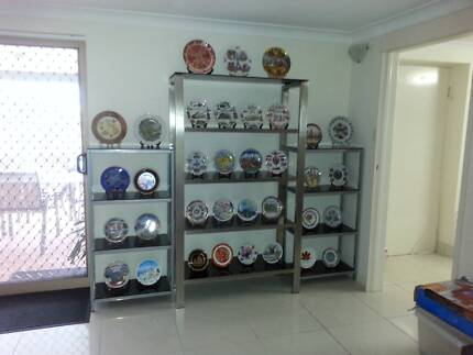 Metal & Glass Shelving/ Wall Unit   Other Furniture   Gumtree ...