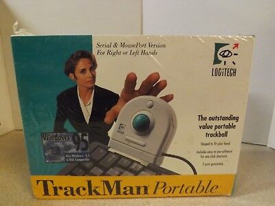 Logitech Trackman Portable Trackball Mouse #4094