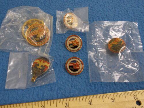 2001 - National Jamboree 5 Hat Pins & Keychain