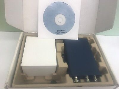 NEW VIDEO ENCODER DDK-3000 Ganz Single Channel MPEG-4 Video Server Single Channel Video Encoder
