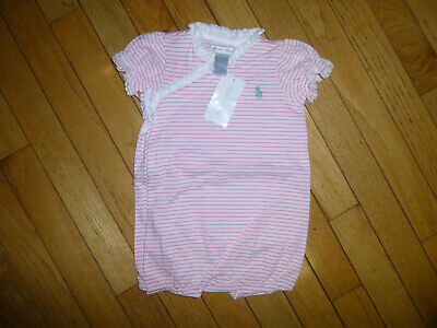 NWT RALPH LAUREN POLO  BABY GIRLS   ONE PIECE OUTFIT SIZE 9 MONTHS NICE