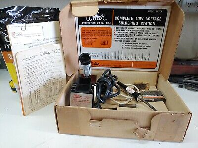 Weller Wtcp Series Soldering Station Tcp1 Pu1 Ek-1 Evaluation Kit Vtg Boxed Extr