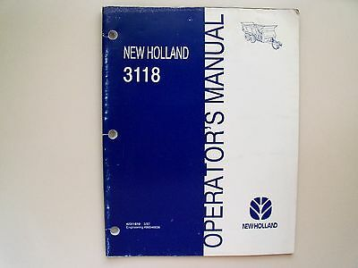 New Holland - 3118 Manure Spreader - Operators Manual
