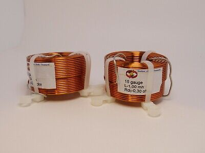 Jantzen 1.0 Mh 15 Gauge Air Core Inductor Pair