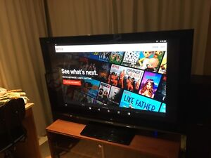 "Panasonic THX Certified 50"" HDTV & IKEA tv Furniture"
