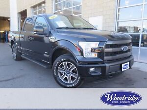 2015 Ford F-150 Lariat 3.5L V6 ECO, LEATHER, NAV, TOW
