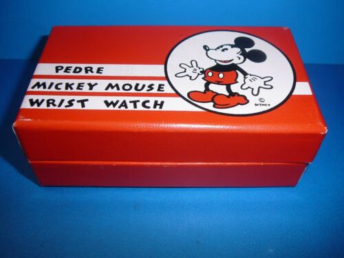 Disney Pedre Mickey Mouse Wrist Watch Box and Papers Only