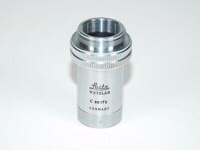 Leitz Wetzlar C Pl Fl Fluotar 10x0.30 170mm Microscope Lens Objective Germany