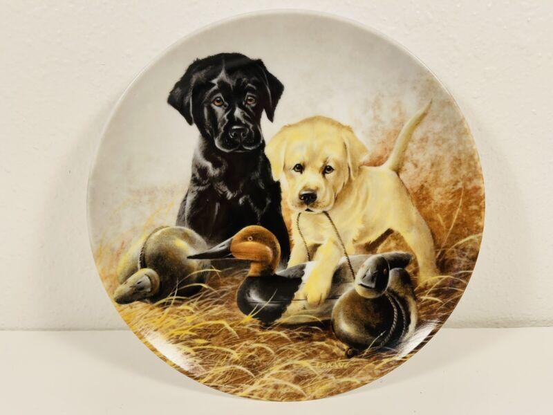 Edwin Knowles Lynn Kaatz A Perfect Set-Labrador Retrievers Collector Plate EUC