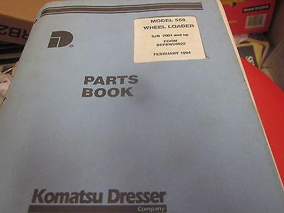 Dresser Model 568 Wheel Loader Parts Book Manual