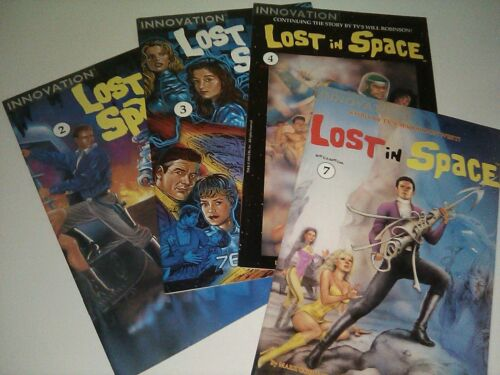 4 Lost in Space Comic Book Lot #2, 3, 4, 7 1991 Innovation by BILL MUMY