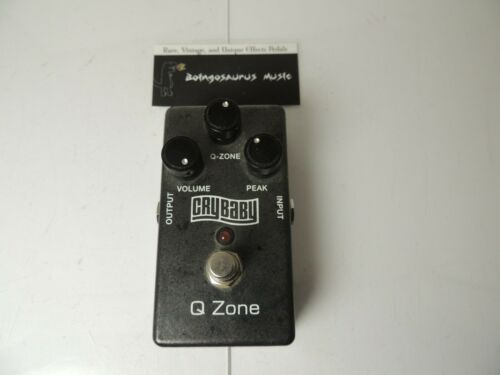 Original Dunlop Q-Zone QZ1 Fixed/Cocked Crybaby Wah Effects Pedal Free USA S&H