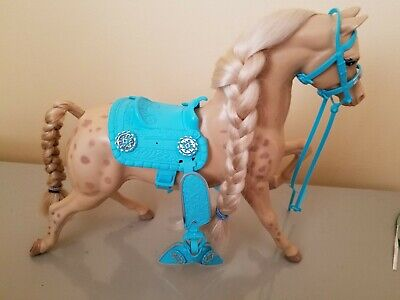 1989 Barbie Western Fun SUN RUNNER Show Horse w/ Accessories ~ Missing Pieces